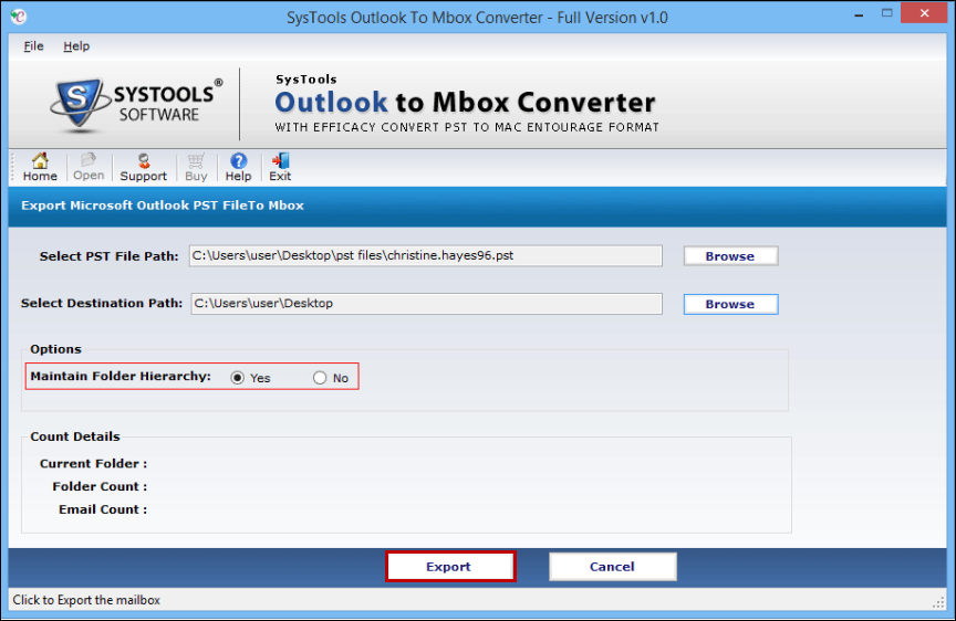 PST to MBOX Converter